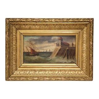 19th Century French Oil on Board Paintings - A Pair