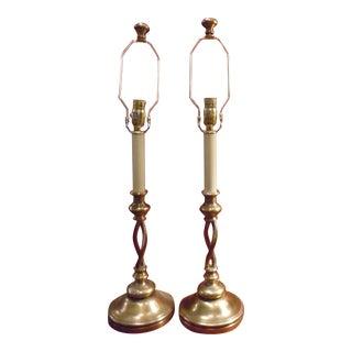 "Chapman ""Swirl Again"" Table Lamps - A Pair"