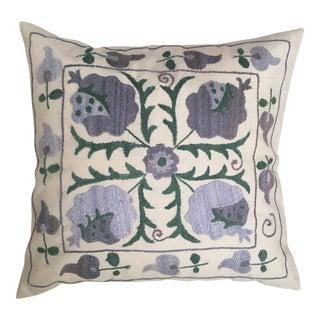 Blue & Green Suzani Throw Pillow