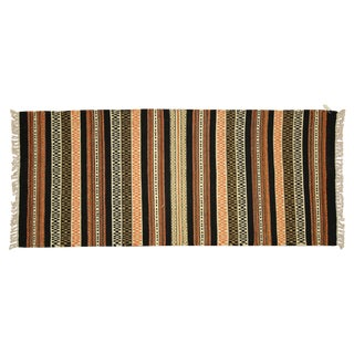"Vegetable Dyed Navajo Style Kilim Rug - 2'7"" x 6'"