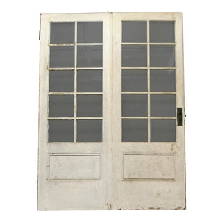 Glass Panel Hinged Doors - A Pair