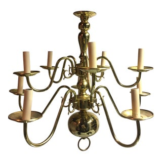 Traditional Polished Brass Chandelier