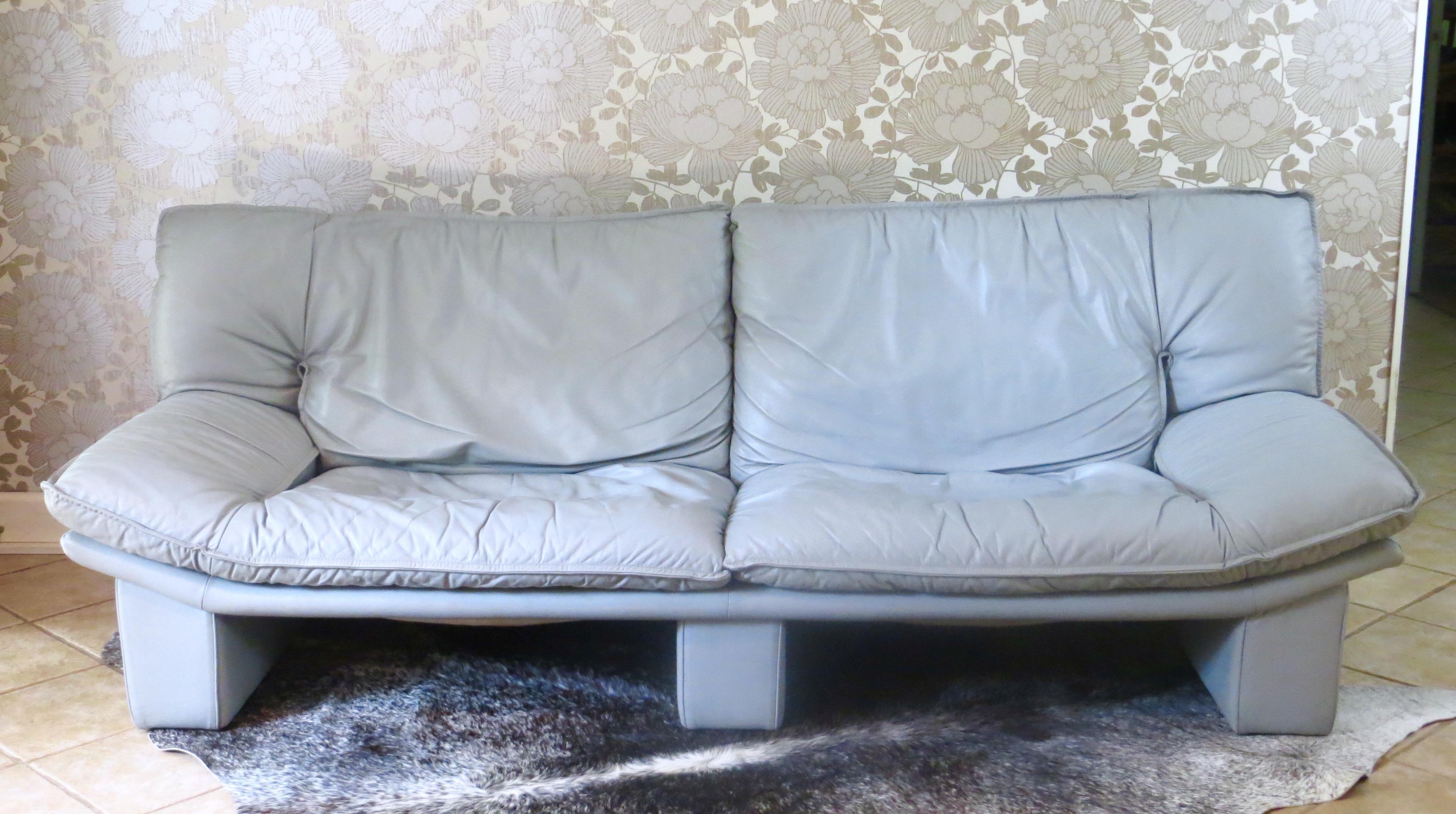 vintage italian leather sofa by nicoletti salotti chairish