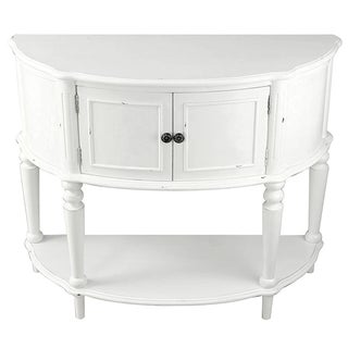 White Cabinet Console Table