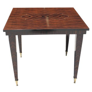 French Art Deco Macassar Ebony Center Table
