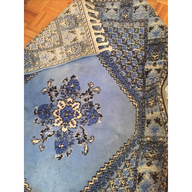 Large Blue Moroccan Rug - 4' x 6' - Image 8 of 9