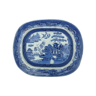 Victorian Blue Willow Platter