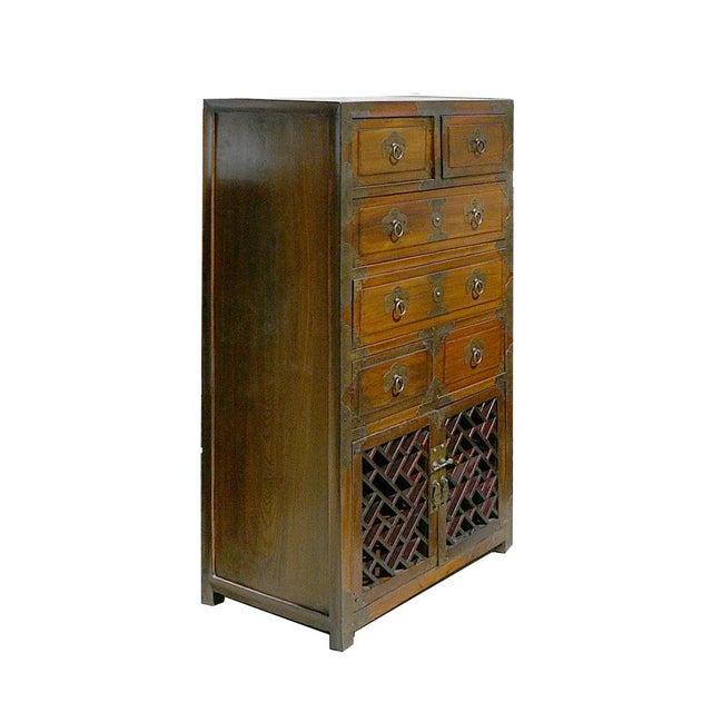 Korean Brass Hardware Accent Dresser - Image 2 of 5