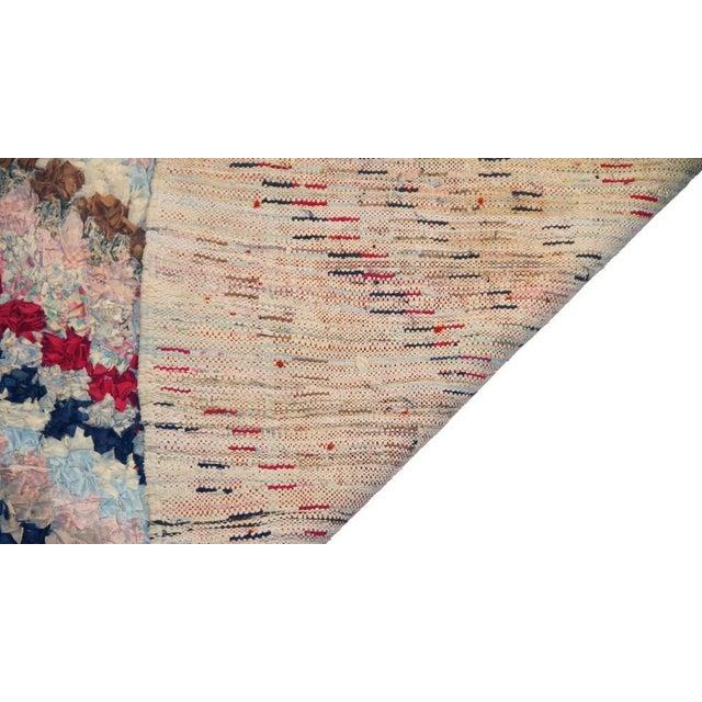 """Vintage Boucherouite Rag Rug - 3'x7'9"""" - Image 3 of 3"""