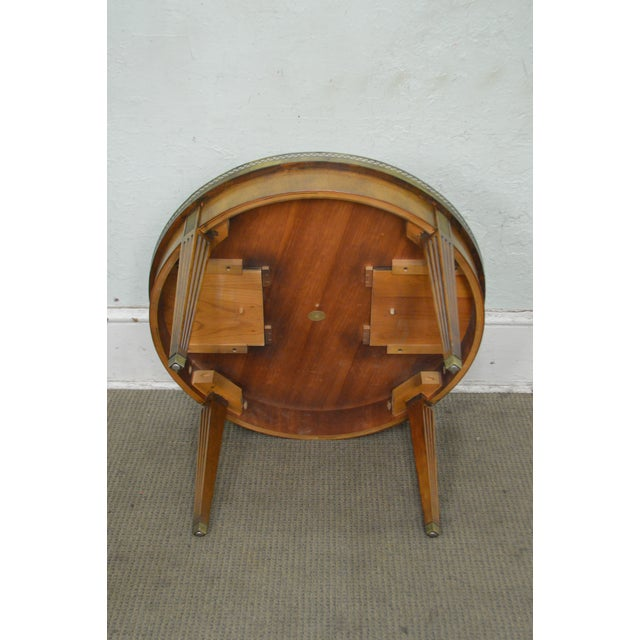 Baker Coffee Table Round: Baker Vintage Regency Directoire Style Round Coffee
