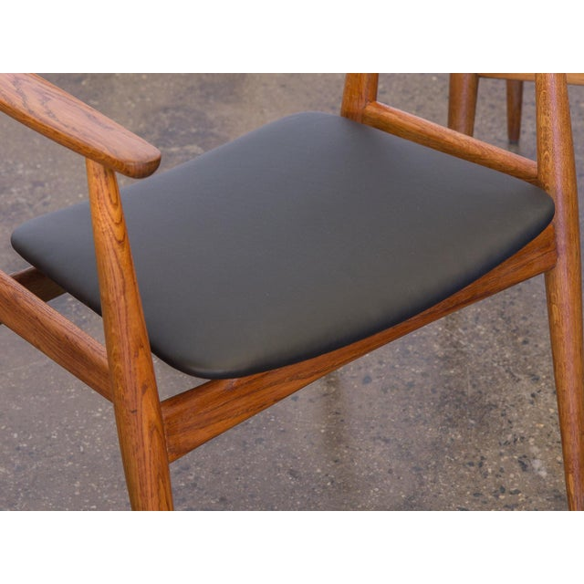 Set of Four Wegner CH-35 Armchairs - Image 9 of 11