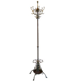Victorian Brass Coat Rack