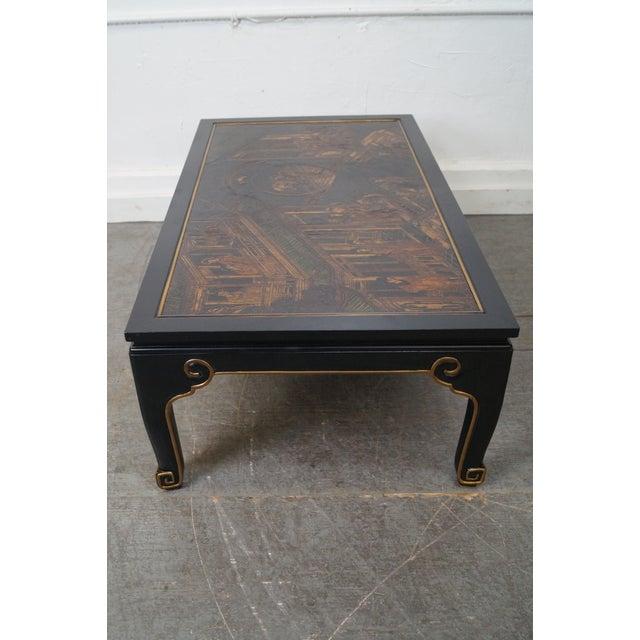 Kindel Chinoiserie Painted Ebonized Coffee Table - Image 2 of 10