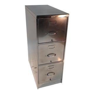 Vintage Three-Tier Steel File Cabinet