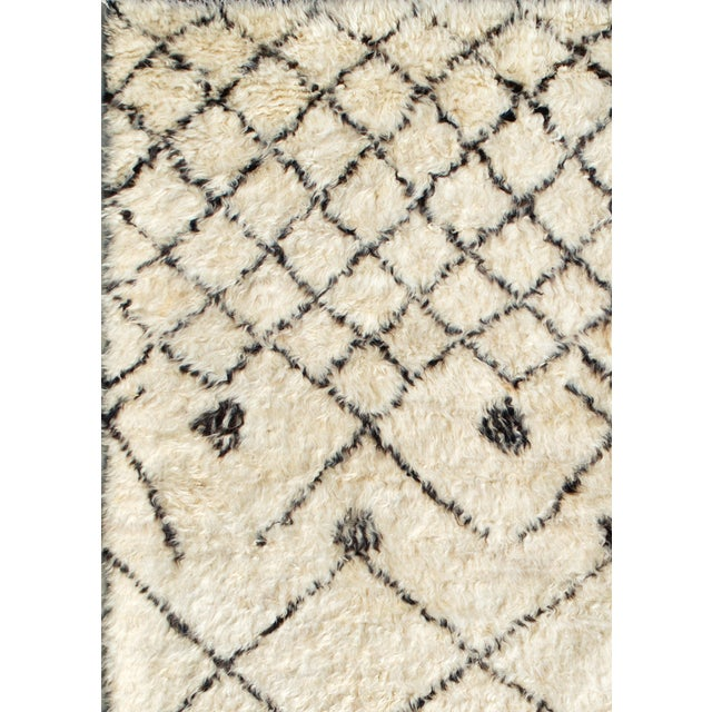 "Image of Moroccan Lamb's Wool Rug- 6' X 9 2"""
