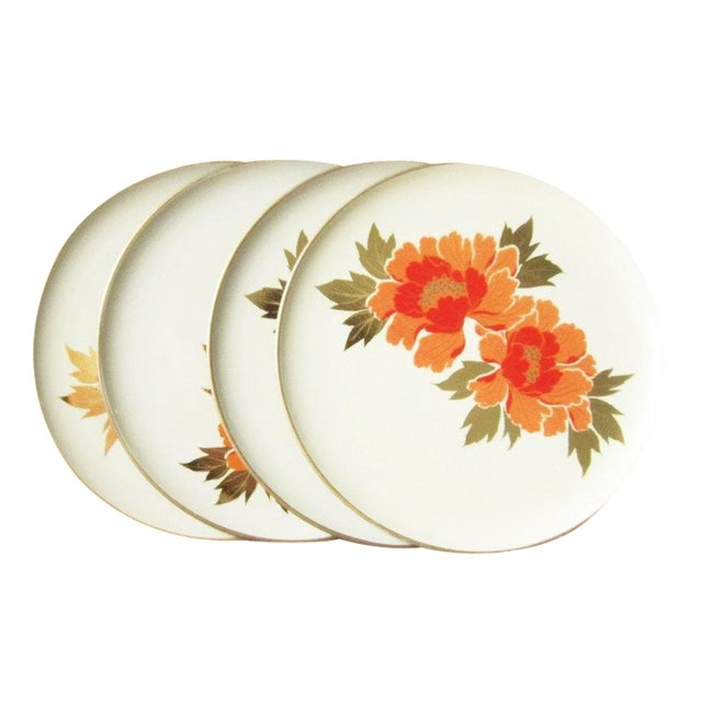 Image of Vintage Otagiri Floral Plates- Set of 4