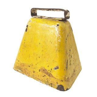 Vintage Yellow Metal Bell