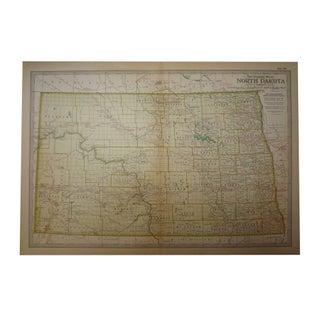 Antique Map of North Dakota C. 1902