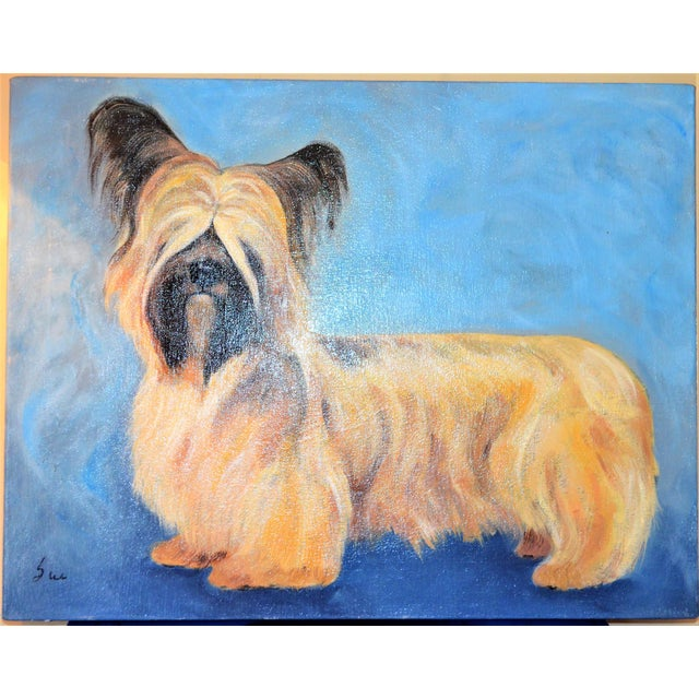 Yorkshire / Skye Terrier Acrylic Painting - Image 4 of 10