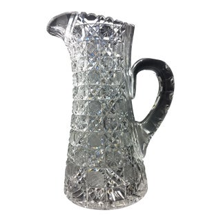 Abp Cut Glass Pitcher