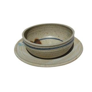 Pottery Bowl & Plate Serving Set