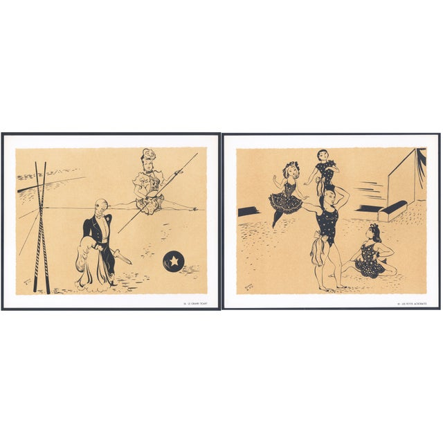 1944 Lithographs - Circus: # 26 & 30 - A Pair - Image 1 of 7