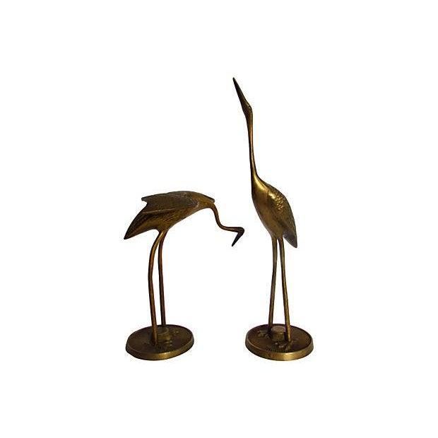 Modern Brass Egrets - A Pair - Image 1 of 4
