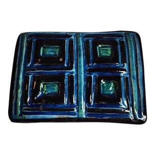 Bitossi Rimini Blue Italian Mid-Century Pottery Box