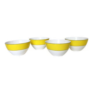 Yellow and White Kate Spade Bowls - Set of 4