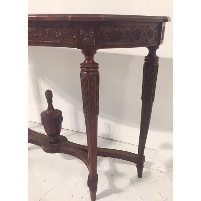 Antique Mahogany Demi-lune Table - Image 7 of 9