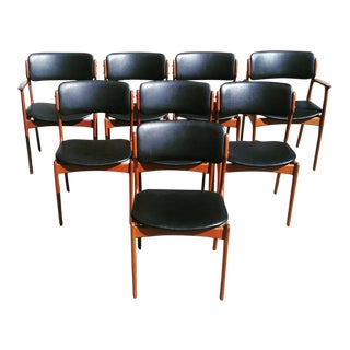 Iconic Erik Buch Dining Chairs Model 49 - Set of 8