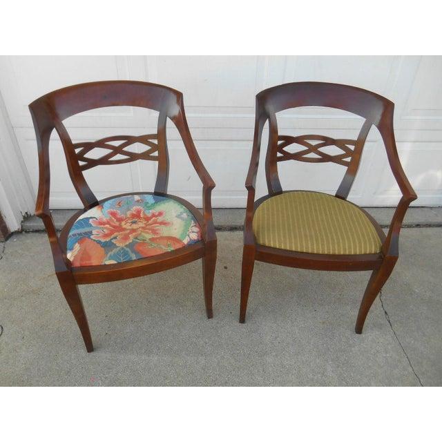 Vintage Baker Furniture Biedermeier Style Dining Chairs - A Pair - Image 2 of 7