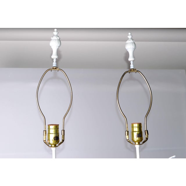 French Figurine Table Lamps - A Pair - Image 10 of 10