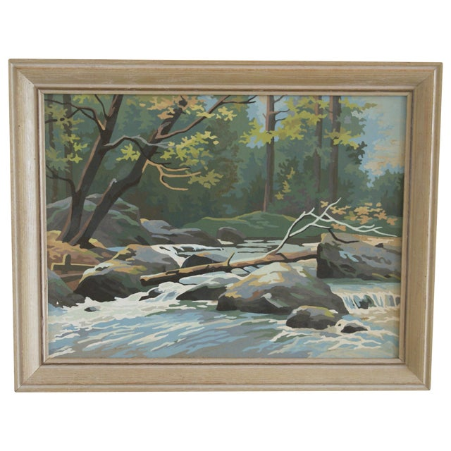 Vintage Paint by Number Woodland Scene - Image 1 of 5