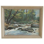 Image of Vintage Paint by Number Woodland Scene