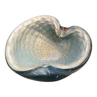 """Murano Glass """"Clamshell"""" Bowl"""