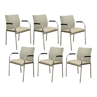Keilhauer Flit 3813 Modern Chrome Office Stacking Chairs - Set of 6
