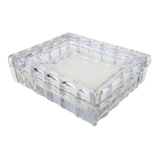 Vintage Unique Crystal Cut Glass Covered Box