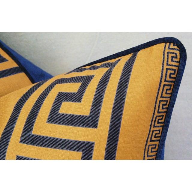 Designer Pierre Frey Greek Key Pillows - A Pair - Image 4 of 11