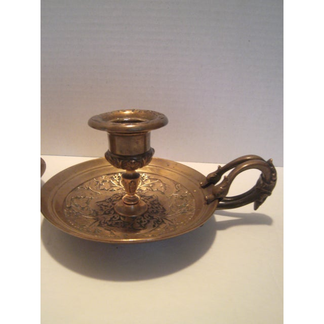Image of Bronze Chamber Candel Holders - A Pair