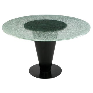 Joe D'Urso for Bieffeplast Conical Steel and Glass Dining Table
