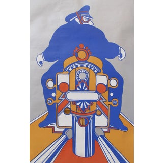 1970s American Motorcycle Poster, Seymour Chwast