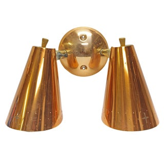 Mid-Century Modern Copper Sconce