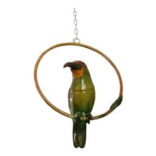 Paper Mache Bird on Ring