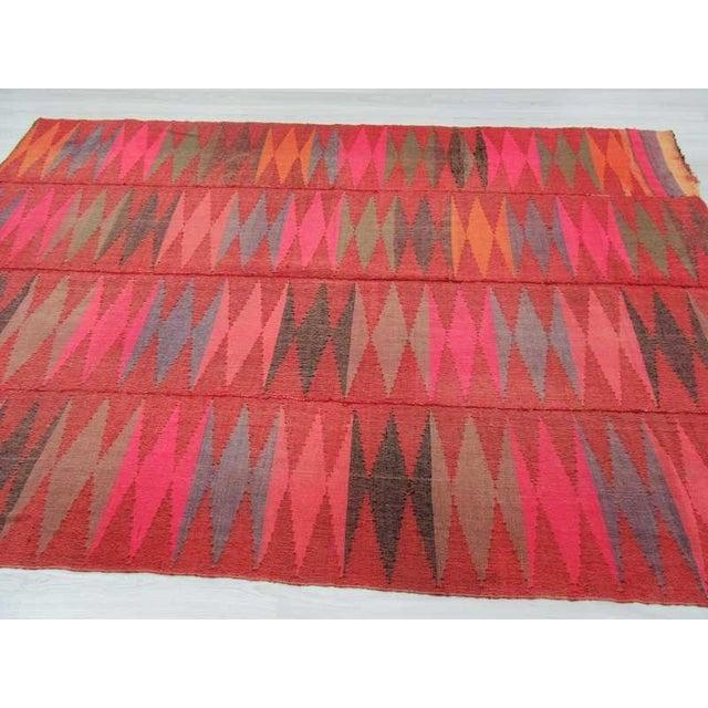 Vintage Colorful Turkish Kilim Rug 7 5 Quot X 10 8 Quot Chairish