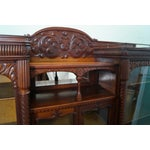 Image of Antique Victorian 4 Door Double Sided Bookcase