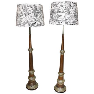 Tall Moroccan Lamps - Pair