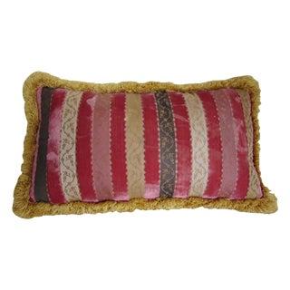 Vintage Scalamandré Velvet Stripe Pillow