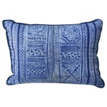 Image of Indigo Blue & White Batik Cotton Pillow