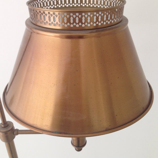 Brass Colored Tole Floor Lamp - Image 9 of 11